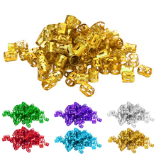 100pcs Aluminum Hair Braid Decoration Rings Locks Metal
