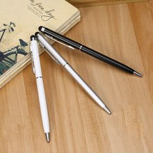 2 in 1 Universal Stainless Steel Capacitive Crystal Touch Screen Pen Stylus & Ball Point Penfor Mobile Android Phone Smart Pen