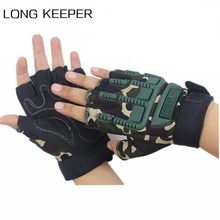Fingerless-Gloves Army Tactical Mittens Bike Cycling Military-Shooting Half-Finger Children