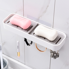 Bathroom Shower Soap Box With 4 Hooks Dish Storage Plate Tray Holder Case Soap Holder Housekeeping Container Organizers bathroom shower soap box dish storage plate tray holder case soap holder high quality housekeeping container organizers