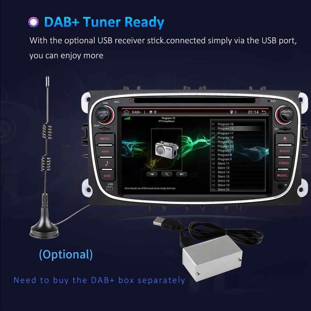 DSP アンドロイド 9.0 車の DVD プレーヤー 2 Din ラジオ GPS ナビフォードフォーカスモンデオ久我 C-MAX S-MAX 銀河オーディオステレオヘッドユニット
