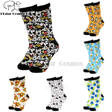 Plstar Cosmos Cartoon socks lovely cute Animal dog cat deer 3d Funny long Socks Men Women cotton quality dropshopping-3