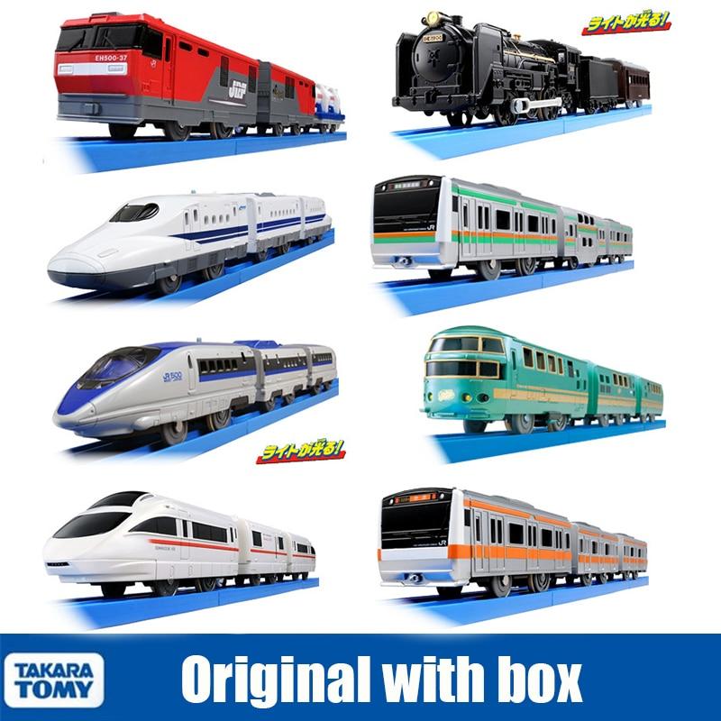 Takara Tomy Tomica Plarail Trackmaster Shinkansen 30-40cm, Kit de modèles de Train électrique, trois wagons, voiture Miniature jouet