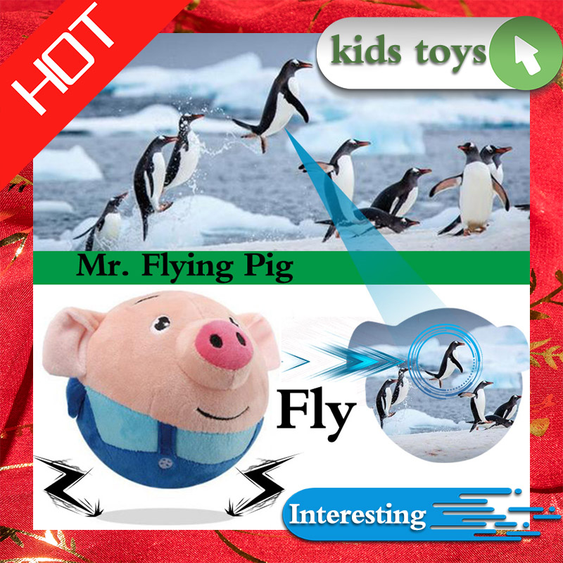 Musical  Dancing Pig Electric Toys Jump Ball Cartoon Pig Children's Electric Plush Toy  Language Teaching For Children