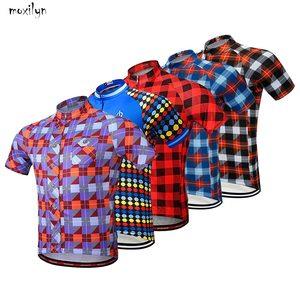 Image 1 - Moxilyn marka bisiklet jarse bluz kısa kollu yaz erkek gömleği hızlı kuru nefes bisiklet aşınma yarış bisiklet bisiklet giyim