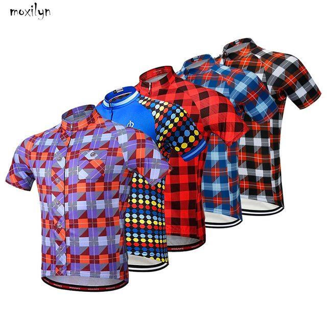 Moxilyn marka bisiklet jarse bluz kısa kollu yaz erkek gömleği hızlı kuru nefes bisiklet aşınma yarış bisiklet bisiklet giyim