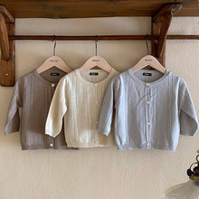 MILANCEL 2021 Summer New Baby Sweater Long Sleeve Girls Blouse O-neck Knitting Boys Tops Korean Casual Toddler Clothes