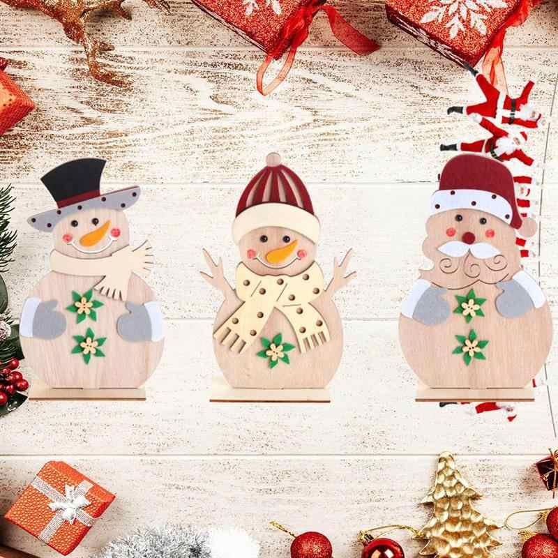 Tabletop Gifts Santa Christmas Xmas Tree Snowman Cute Decorations Office