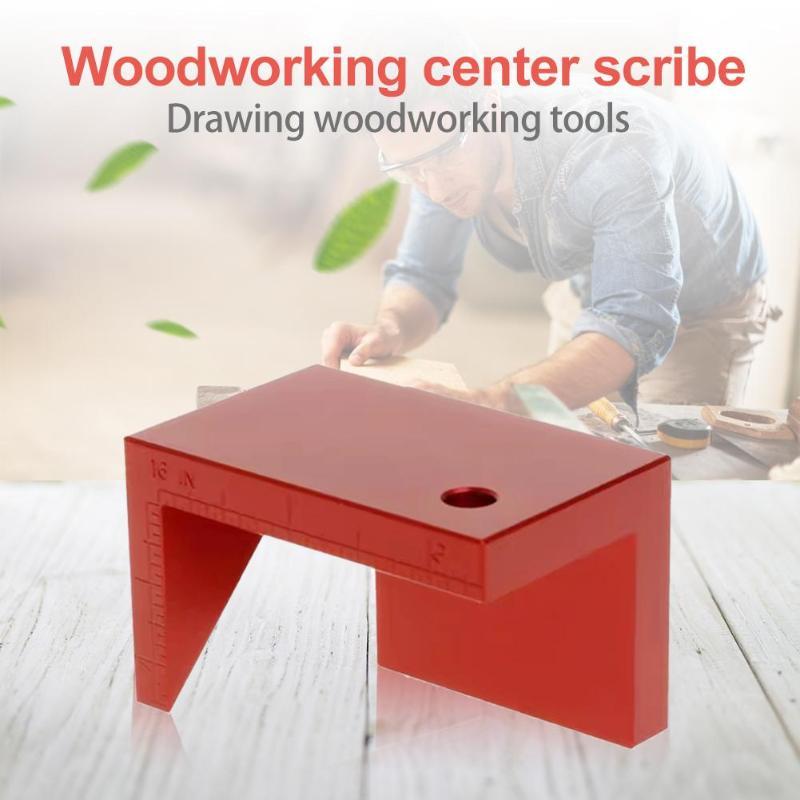 45 Degree Angle Line Marking Excellent Aluminum Alloy Gauge Carpenter Round Heart Ruler Woodworking Gauge Angle Ruler