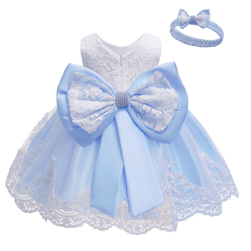 Flower Girls Wedding Dress Baby Girls Christening Cake Dresses for Party Occasion Kids 1 Year Baby Girl Birthday Dress