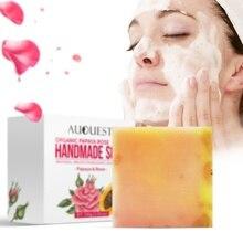 Papaya Rose Handmade Essential Oil Soap Pure Natural No Stimulation 100g