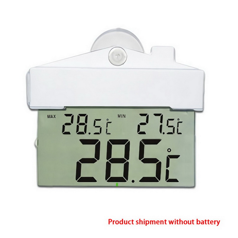 Saug <font><b>Thermometer</b></font> <font><b>LCD</b></font> Digital Wetter Station Drahtlose Sensor Fenster Hydrometer Indoor Outdoor <font><b>Thermometer</b></font> Temperatur image