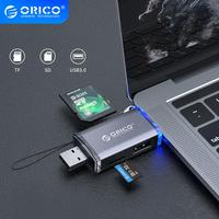 ORICO 6 in 1 lettore di Schede di OTG USB 3.0 Micro USB 2.0 di Tipo C a SD Micro SD TF Adattatore intelligente Multi Lettore di Schede di Memoria SD per il Computer Portatile