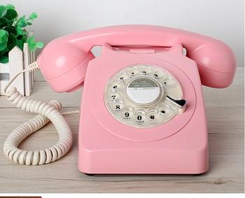 Moda antyczne naprawiono telefon klasyczny vintage obrót moda telefon 1951 tanie i dobre opinie jiansu Przewodowe Telefony HA1951TN antique  antediluvian technology