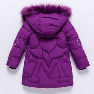 Image 2 - Детская зимняя куртка с капюшоном, с украшением в виде кролика