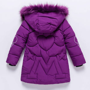 Image 2 - Girls Winter Jacket Childrens Thick Warm Coat Kids Hooded Coats Baby Thick Parka Bunny Decoration Winter Clothing  Outerwear