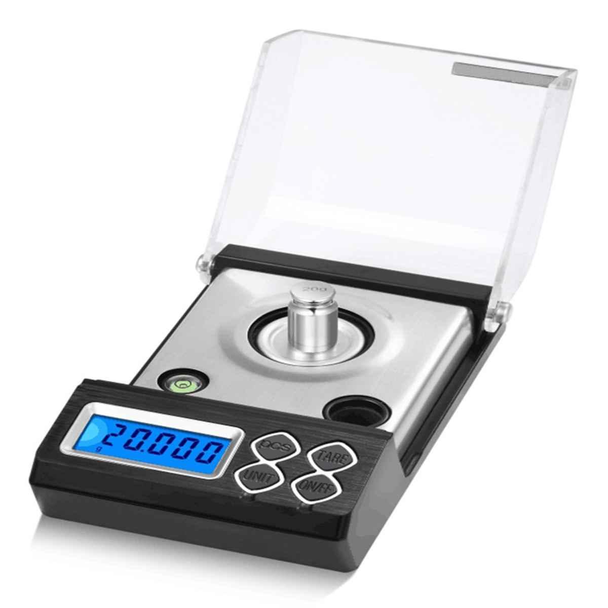 50G/20G 0.001G Cao Cấp Quy Mô Kỹ Thuật Số Di Động Màn Hình LCD Điện Tử Trang Sức Trọng Lượng Cân Thuốc Thảo Dược Cân Bằng cân Điện Tử Bỏ Túi