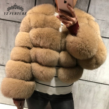 YZ Furture 2019 New Fashion Natural Real Blue Fox Fur Women Natural Genuine Fur Jackets Coats Female 5 Row Short Outerwear Girls cheap Thick Warm Fur Real Fur FC-034-2 Thick (Winter) REGULAR Full Pelt O-Neck Hook Solid Casual Wide-waisted Spring Autumn Winter