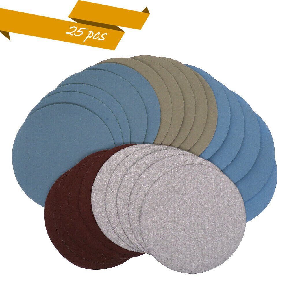 25ps Sanding Discs 5 Inch sandpaper Grit 1000/2000 /3000/4000/ 5000 Assortment Wet and Dry Abrasive Tool