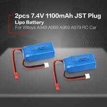 7.4v 1100mah lipo bateria para wltoys v353 a949 a959 a969 a979 k929 rc carros helicópteros barcos peças li-po bateria 903048 2 peças