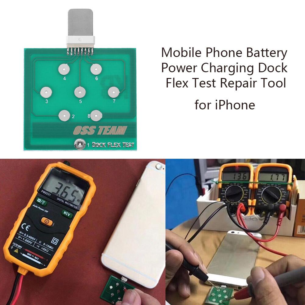 Professional Mobile Phone Battery Power Charging Dock Flex Test Repair Tool For Iphone Android Cellphone Test Micro Usb