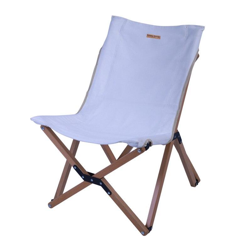 Cadeira dobrável de lona de madeira maciça portátil ao ar livre acampamento esboçar lazer auto-condução retro luz fezes