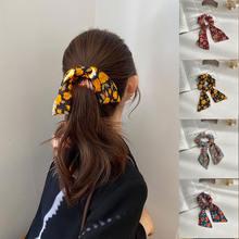 Женская резинка для волос с бантом винтажная эластичная цветочным