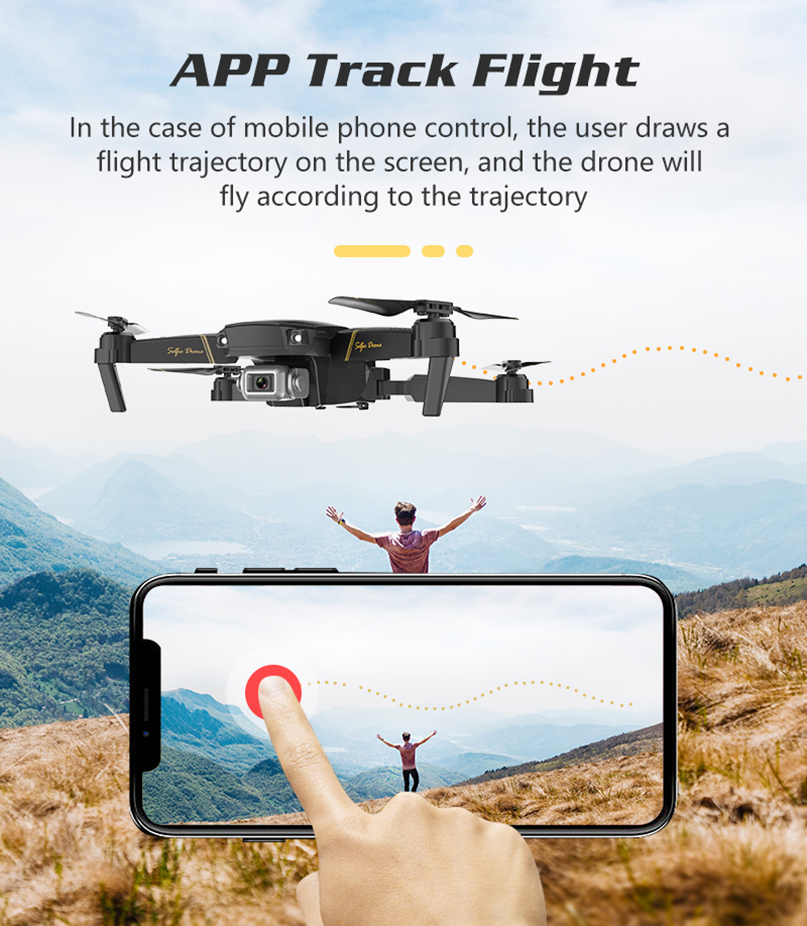 Global Drone Camera Altitude-Hold-Mode GD89 Rc Quadcopter Folded WIFI FPV 1080P HD