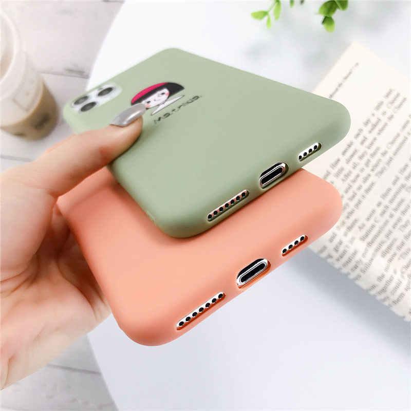 Lovebay silikon telefon iPhone kılıfları 7 XR 11 Pro avokado dalgalar kaktüs iPhone 5SE 6 6s 8 artı X XS Max yumuşak TPU arka kapak