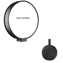 Universal Camera Photo Accessories 30cm Round Portable On-top Soft Box Speedlight Flash Diffuser Softbox for Canon.Nikon.Sony 16 40cm portable softbox soft box for speedlight and flash light accessories for photo and studio