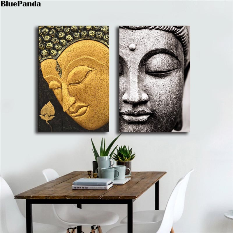 Find The Perfect Buddha Face Best Paintings Canvas Prints Picture Modular For Living Room Poster On The Wall Home Decoration image