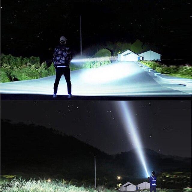 YB07 XHP70 Super Powerful LED Flashlight XM-L2 Tactical Torch USB Rechargeable Linterna Waterproof Lamp Ultra Bright Lantern 5