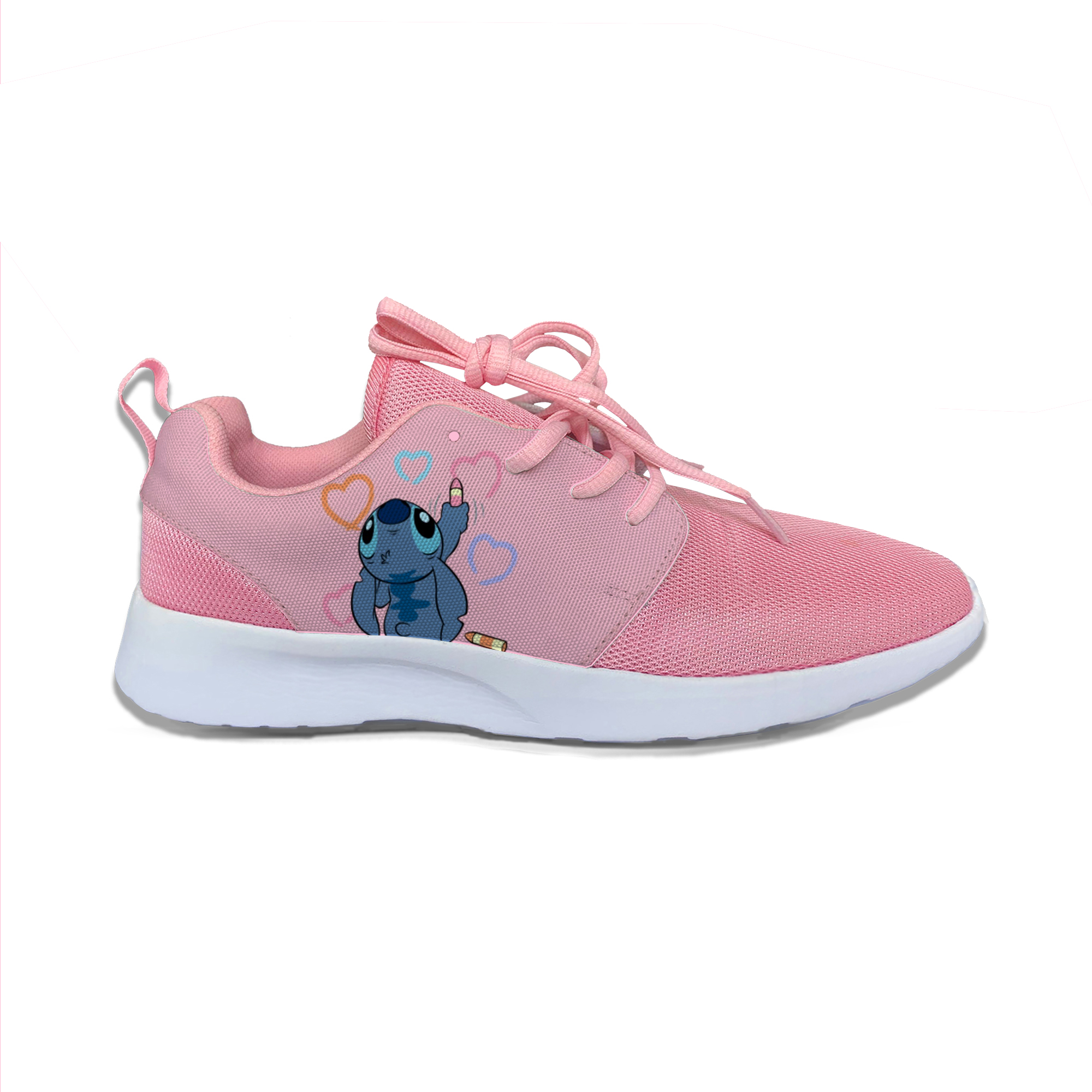 Lilo Stitch Angel Funny Cute Cartoon Vogue Sport Running Shoes Lightweight Breathable 3D Printed Girl Women Female Mesh Sneakers