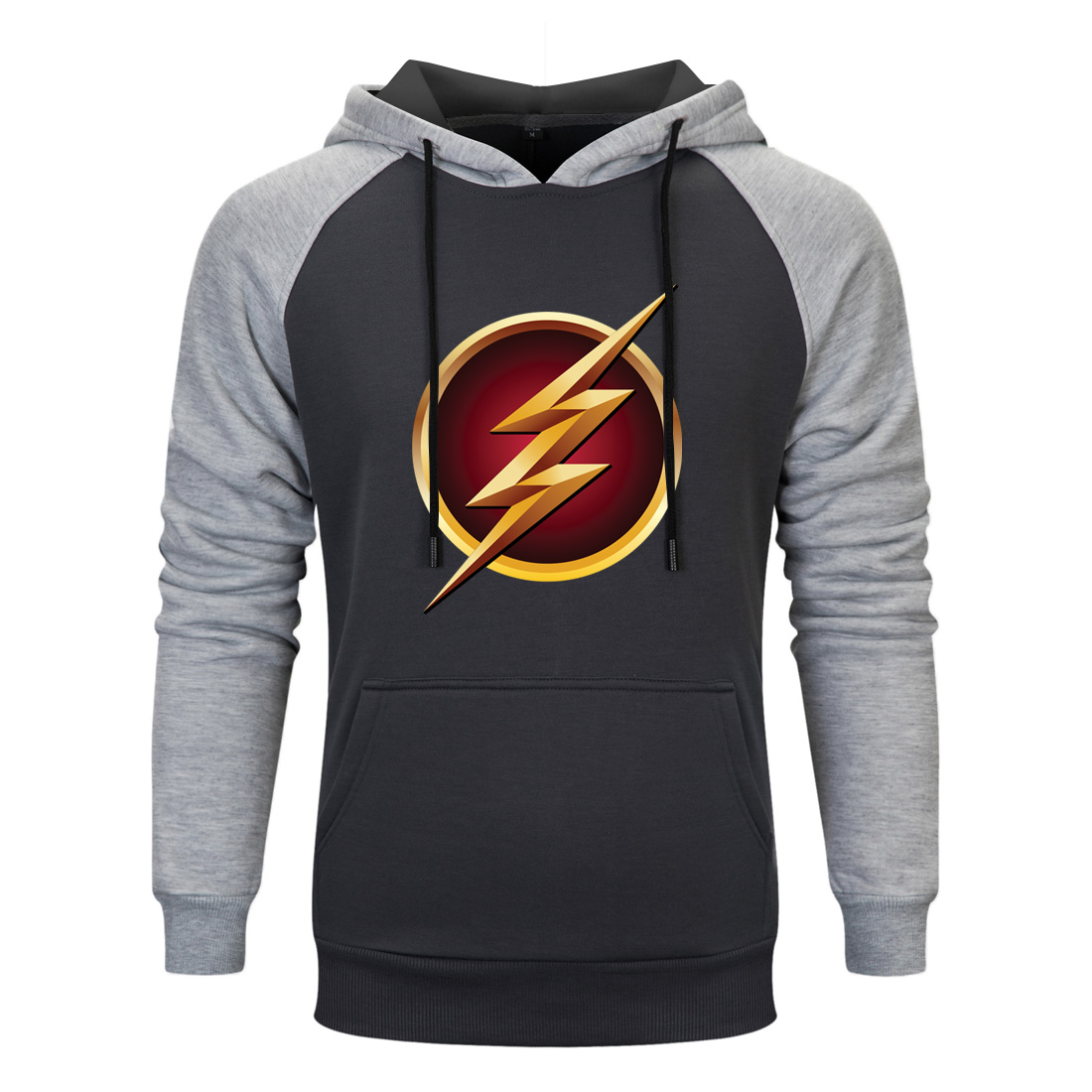 The Flash Super Hero Raglan Hooded Hoodies Men spring autumn Sweatshirts 2020 Casual Fleece Pullovers Male Casual Hipster coats