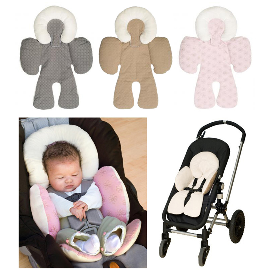 Baby stroller cushion car seat accessories Carriage thermal pad liner children shoulder belt strap cover Neck Protection
