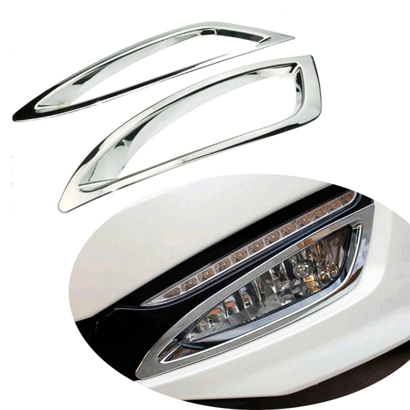 For KIA Optima K5 2011 2012 2013 Car Front Head Fog Light Cover Trim Foglight Lamp Exterior Protective Frame ABS Chrome 2PCS image