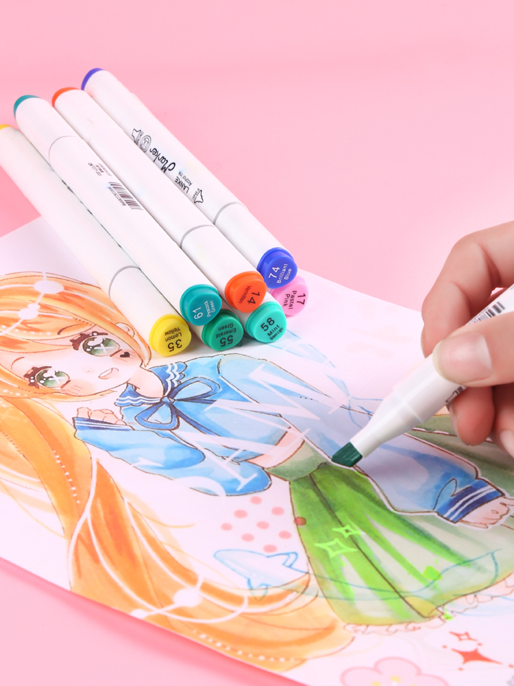 CHENYU Alcohol-Based Pen Art-Supplies Drawing-Markers Twin-Brush Manga Sketch No Non-Toxic