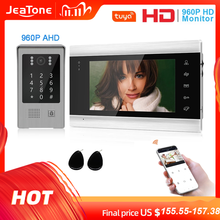 Jeatone 960P Tuya WiFi IP Video Door Phone Video Intercom Code Keypad/RFID Card/APP Unlock Motion Detection Access Control kits