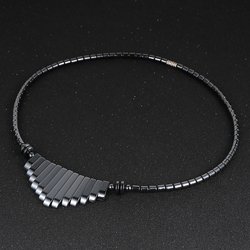 Mode gland hématite pendentif collier pour femmes 18