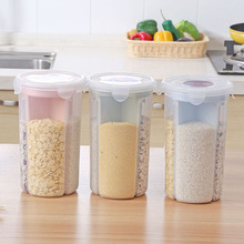 Ящик для хранения зерна риса контейнер прозрачный контейнер для пищевых продуктов зерновых диспенсер с вращающейся кухонные крышки поставки 4 сетки