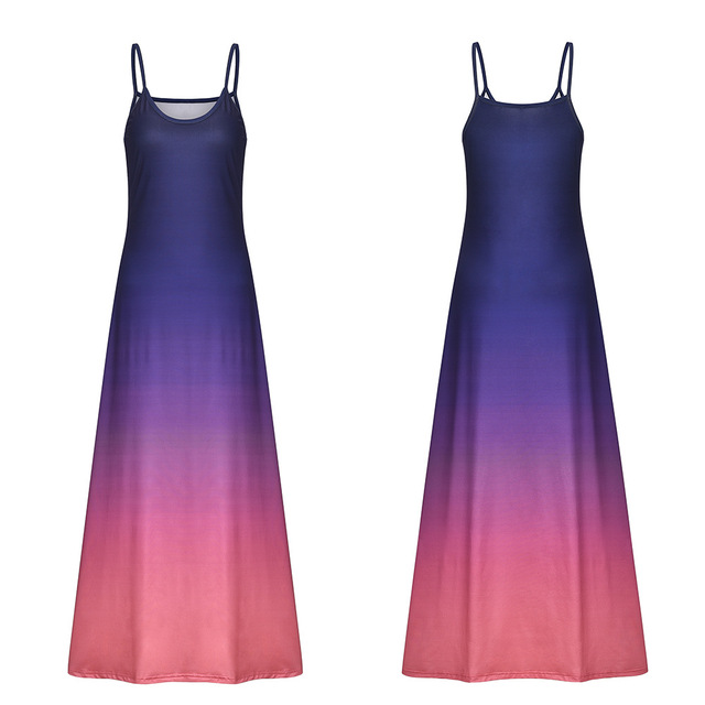 2020 Women Casual Loose Strap Dress Colors Summer Sexy Boho Bow Camis Befree Maxi Dress Plus Sizes Big Large Dresses Robe Femme 2