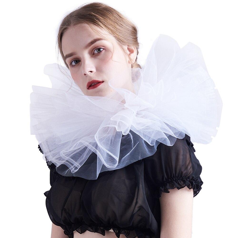 Elizabethan Collar Victorian Edwardian Chiffon Neck Ruff