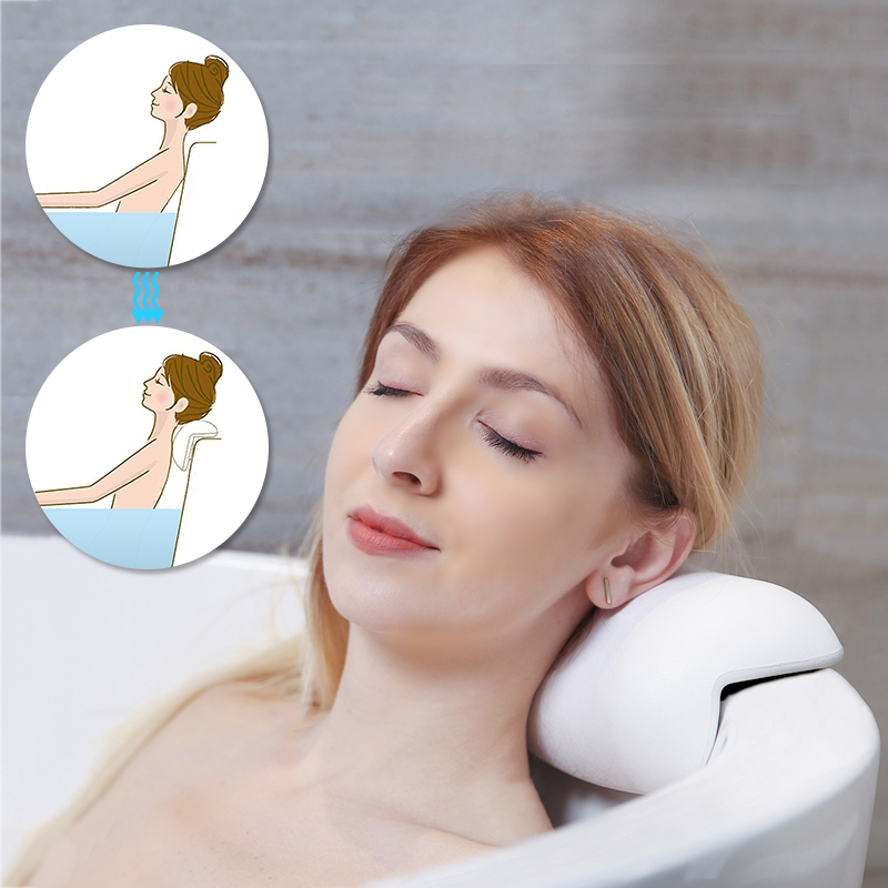 SPA Bath Pillow Non-slip  Bathtub Headrest Soft Waterproof Bath Pillows with Suction Cups Easy To Clean Bathroom Accessories 5
