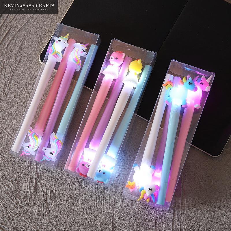 4Pcs/Set Gel Pen Unicorn Pen Stationery Kawaii School Supplies Gel Ink Pen School Stationery Office Suppliers Pen Kids Gifts 1