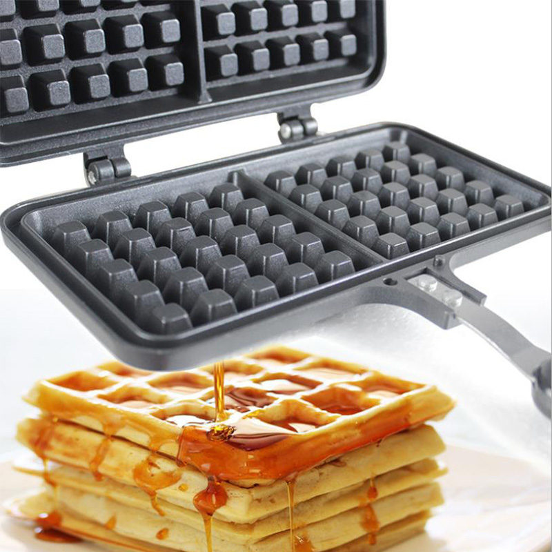 Portable Non Stick Waffle Maker Machine With Made Of Aluminum Alloy For Home Kitchen 1