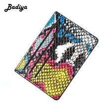 Vintage Women Wallet Thin Colorful Python Clutch Bag Short C