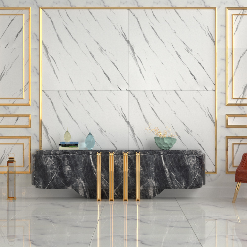 Self Adhesive Thick Waterproof Marble Wallpaper Furniture