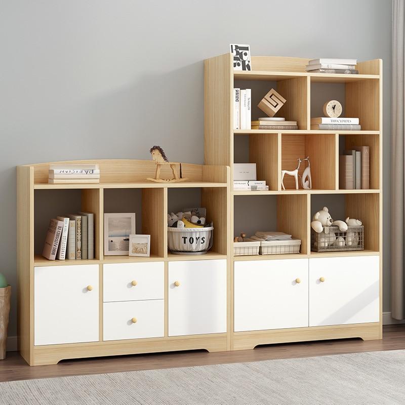 Bookcase Bookshelf Combination Minimalist Modern Floor Multi-functional Northern European-Style Province Space Creative Small Bo