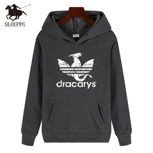 New Pullover Game of Throns printing Hoodies cotton loose hip hop Sportswear streetwear Casual Men 2019