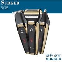 Surker elektryczna maszynka do włosów SK 903 3 w 1 bezprzewodowy akumulator maszynka do włosów golarka trymer do brody trymer do nosa maszynka do strzyżenia w Trymery do włosów od AGD na